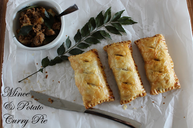 Mince And Potato Curry Pie