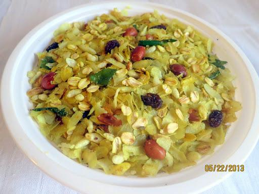 poha and oats chivda