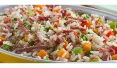 arroz linguiça e chuchu