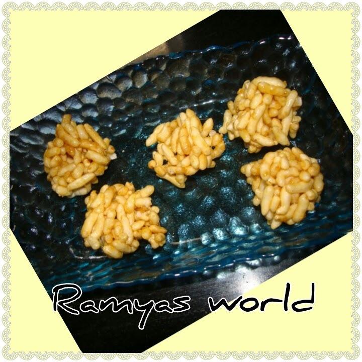 CARAMELISED PORI (puffed rice)