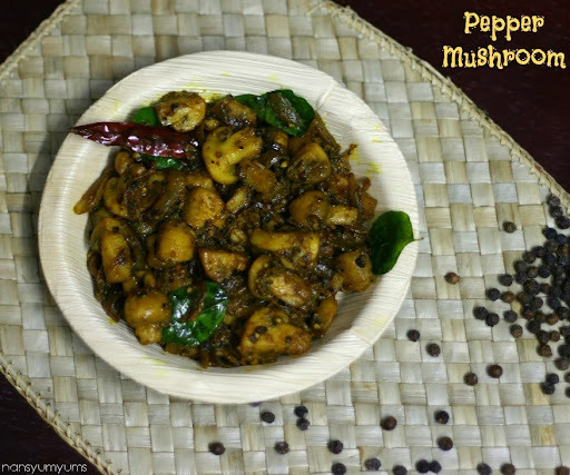 Pepper Mushroom | Mushroom Pepper Fry