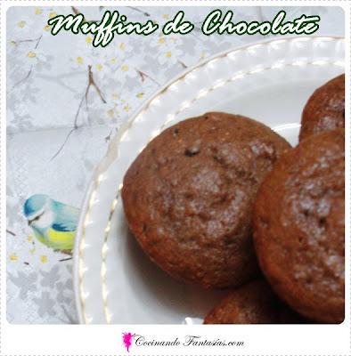 Muffins de Chocolate y Chips