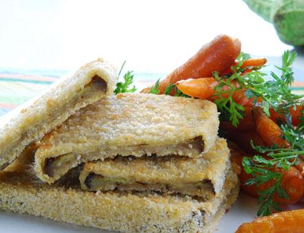 de berinjela a milanesa ao forno com queijo