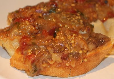 Torradinhas com Beringela do Marrocos (Zaallouk)