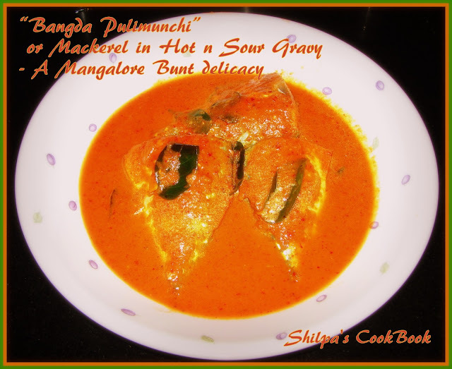 """Bangda Pulimunchi"" or Mackeral in Hot n Sour gravy - A Mangalore Bunt delicacy"