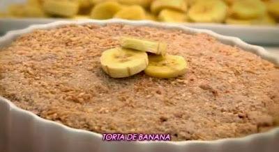 Aprenda a fazer torta de banana