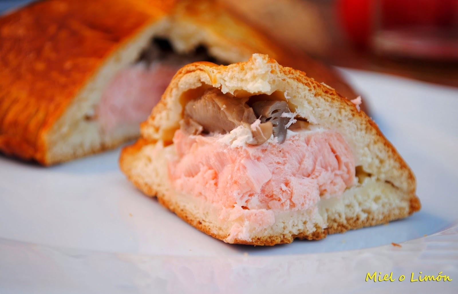 Hojaldre de salmón y setas