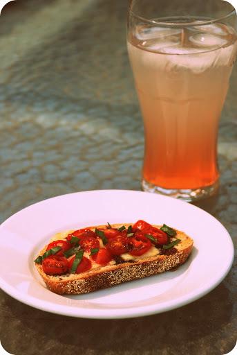 A Summer Toast (Tomato Basil Canapes)