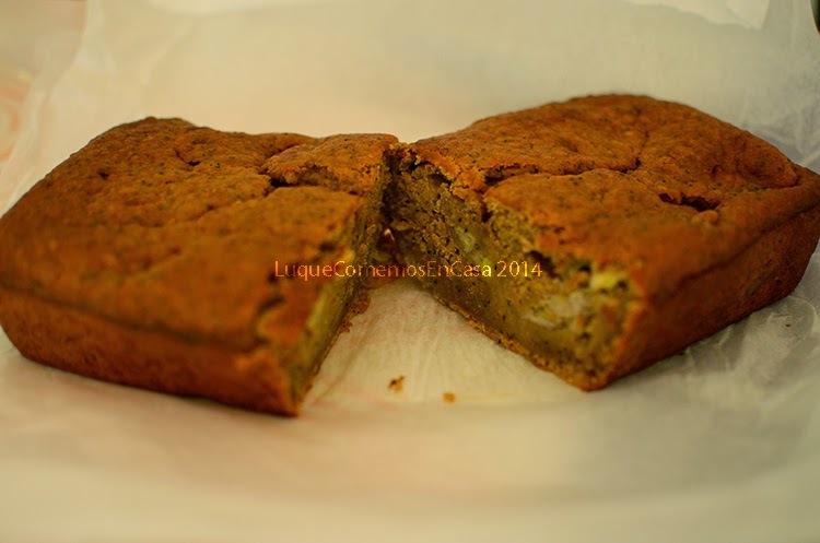 Cake de banana con avena