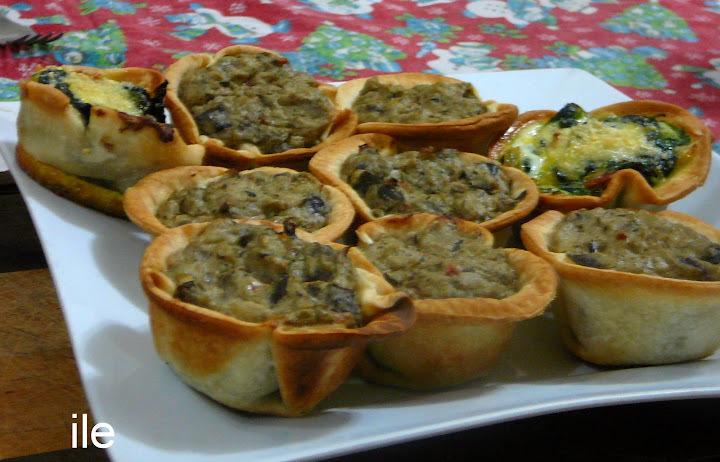 Mini tartas de berenjenas