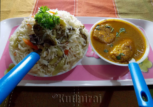Vegetable Pulao with Goan Egg Curry