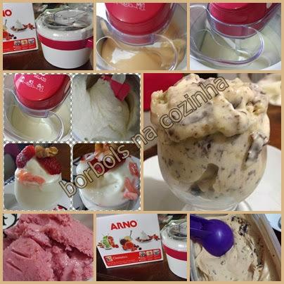 sorvete caseiro diet de doce de leite