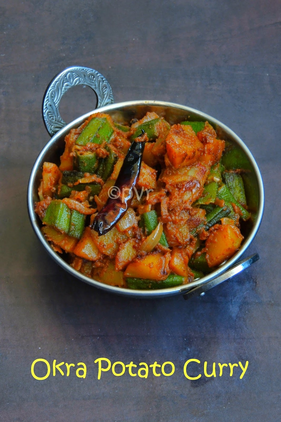 Okra Potato Curry/ Bhindi Aloo Ki Sabzi