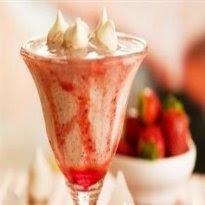 de milk shake de sorvete de flocos
