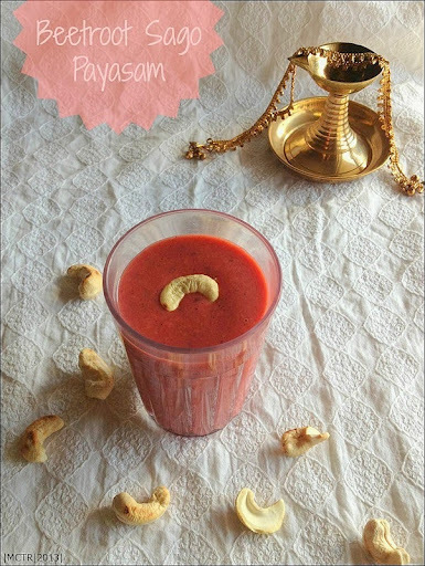 Beetroot Sago Payasam | Easy Festival Recipes & Celebrating 400th Post...
