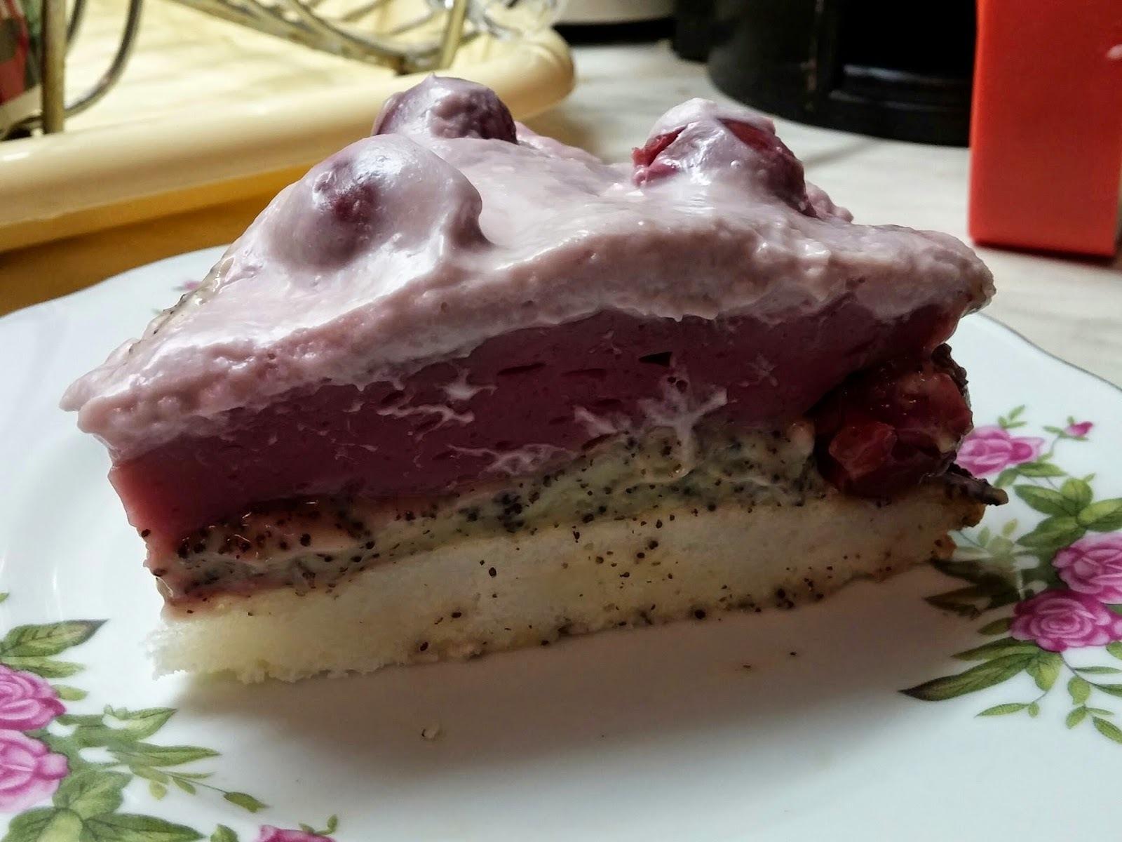 Meggyes-mákos sütemény ( tej-,tojás és gluténmentesen)