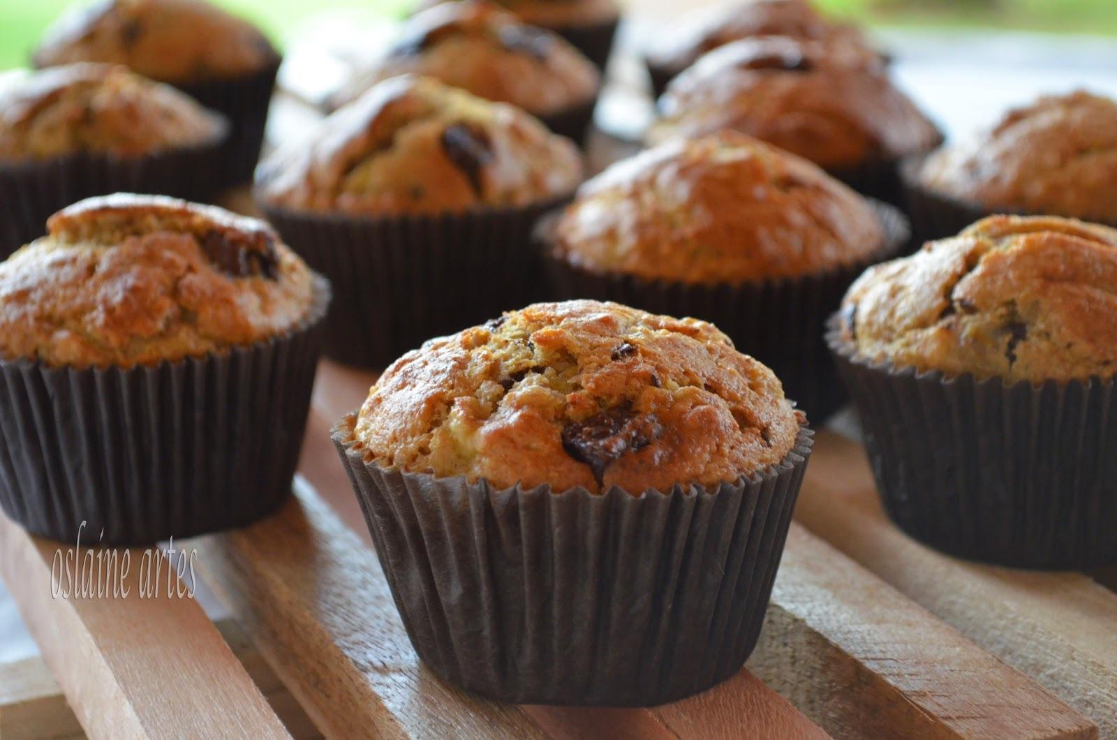 Muffins de Banana e Chocolate
