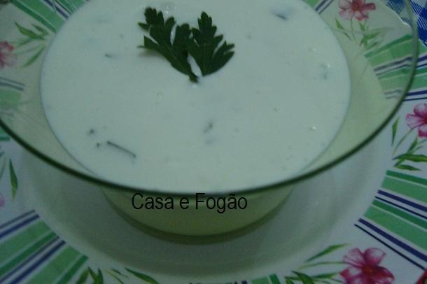 Maionese de leite com alho