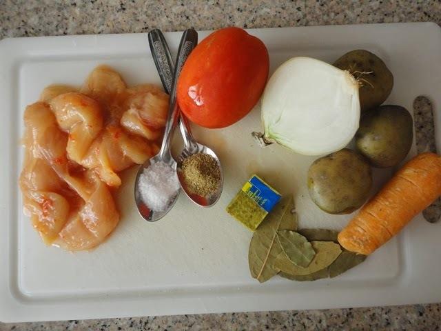 Sudado de Pollo (plato criollo de por acá)