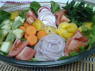 verduras cozidas no vapor