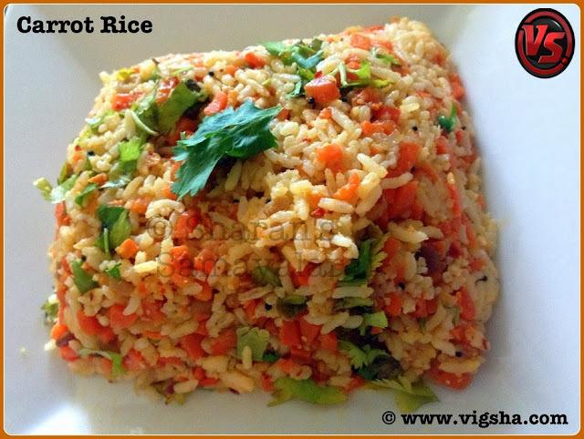 Carrot Rice / கேரட் சாதம்