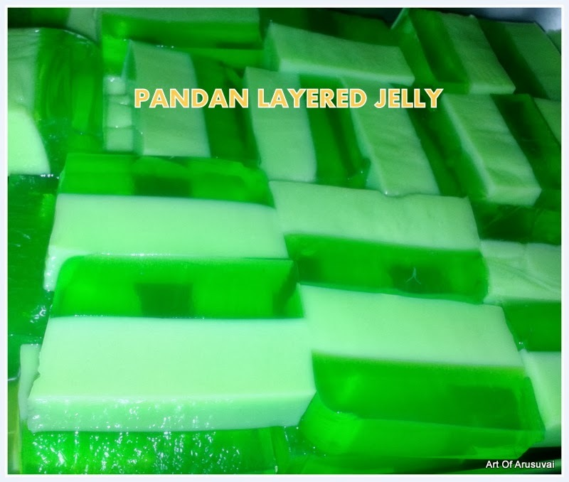 ^PANDAN LAYERED JELLY^