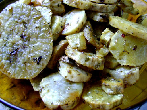 batata doce no forno com oregano e azeite