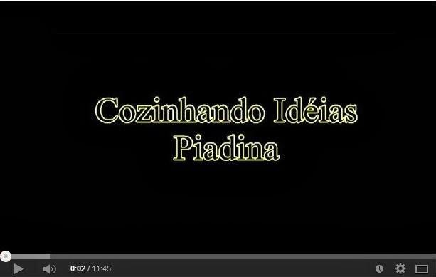 Piadina - uma idéia para cozinhar uma delícia bem rapidinho! (com video)