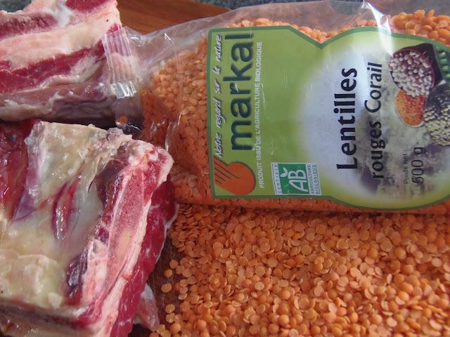 como fazer lentilha com costela e carne seca