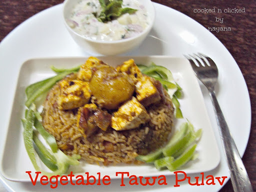 Vegetable Tawa Pulav ( For Potluck Cyberstyle )
