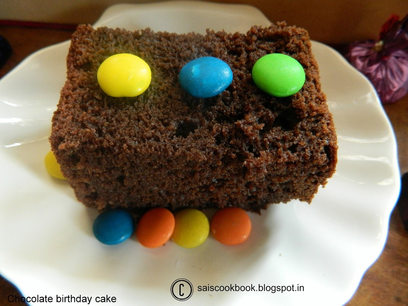 Chocolate Birthday cake(eggless)