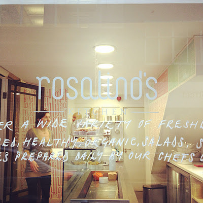 lunch and conversation at rosalind's kitchen