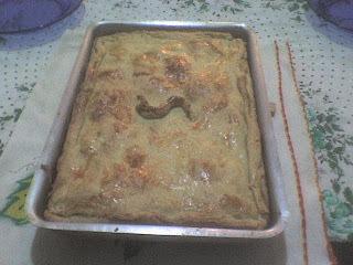 de torta de presunto e queijo fofinha