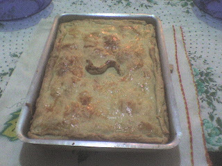 Torta de palmito e presunto e queijo do Serjão