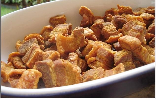 como fritar barriga de porco e pururuca