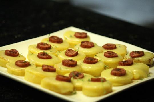 Canapés de polenta brustolada