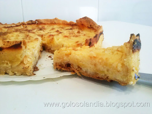 Tarta de plátano y almendra, receta casera paso a paso
