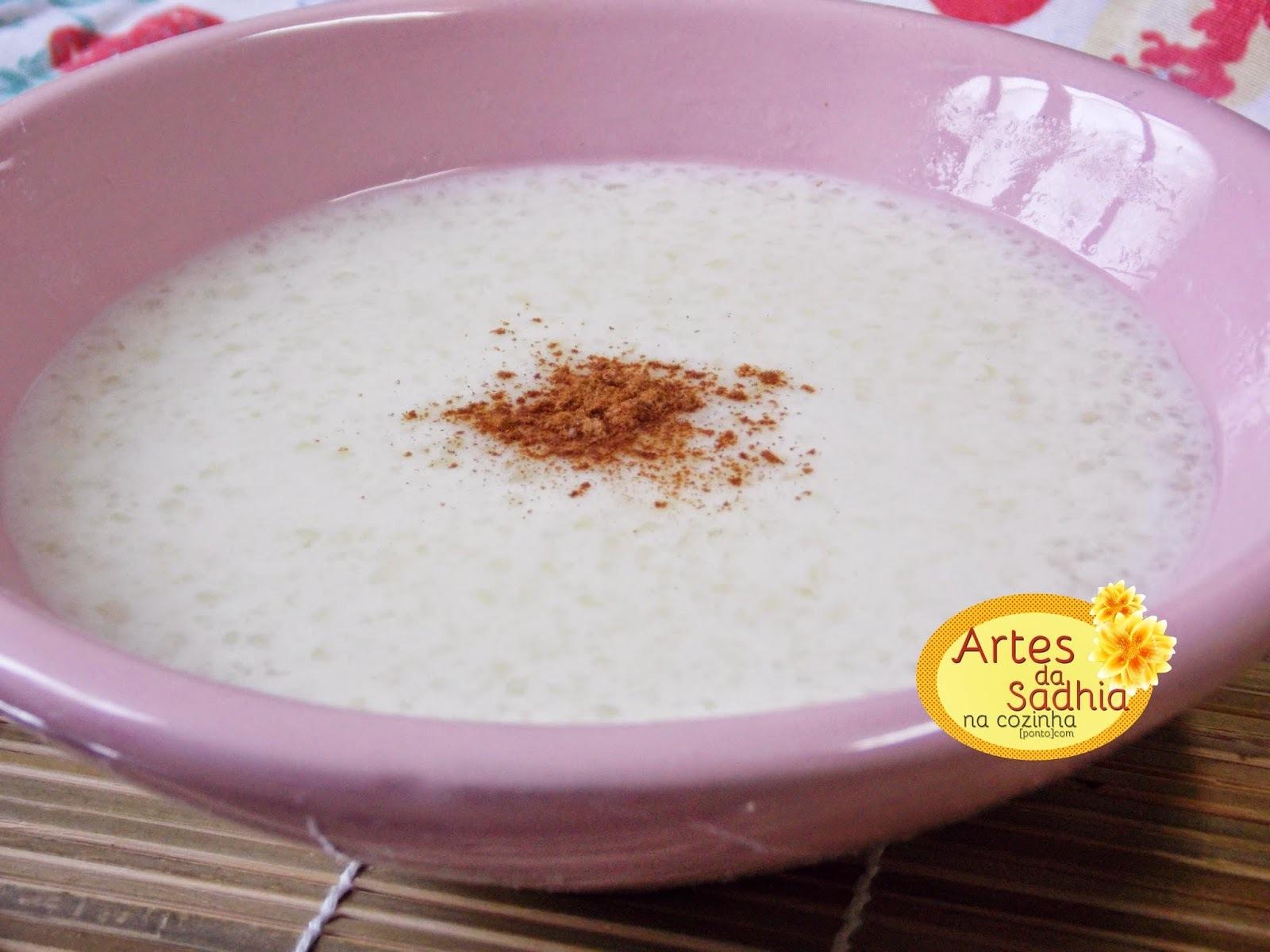 Mingau de tapioca com leite de coco