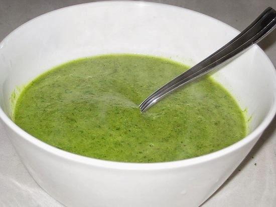 sopa de brócolis light