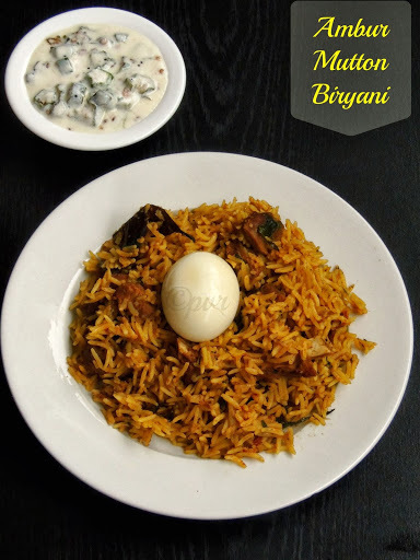 Ambur Mutton Biriyani/Ambur Style Mutton Biryani