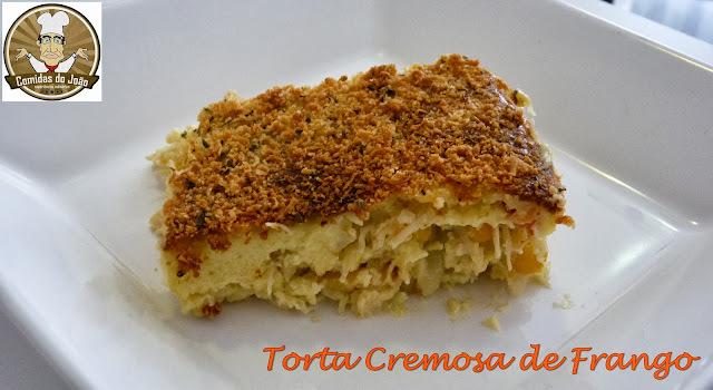 torta de frango e sardinha cremosa