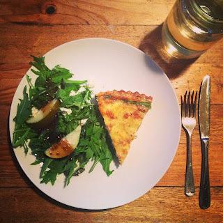 Asparagus, Feta and Pesto Tart
