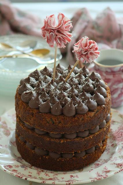 Pastís de plàtan amb trufa de xocolata (vegà)