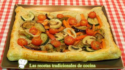 Hojaldre con verduras receta fácil