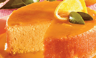 Bolo cremoso de laranja