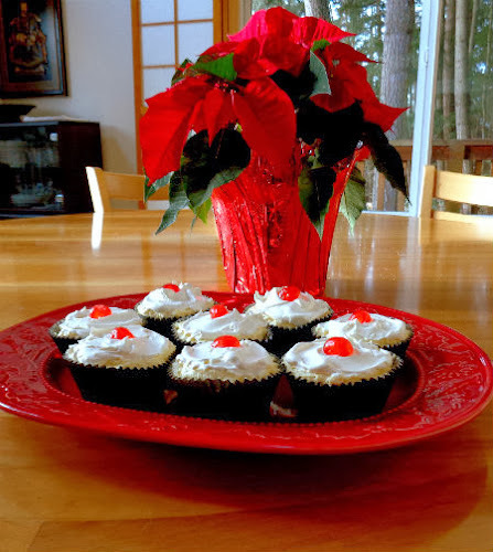 Countdown to Christmas - Chocolate Shells with Eggnog Cheesecake Mousse