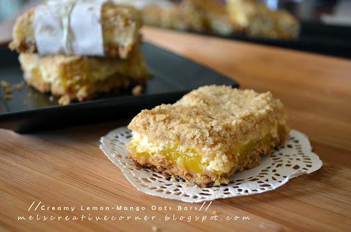 Creamy Lemon-Mango Oats Bars!