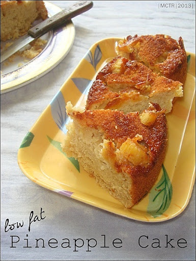 Pineapple Cake ~ Low Fat Version