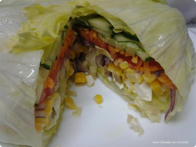 salada de alface rucula e espinafre