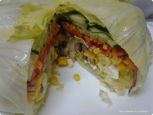 alface crespa alface lisa salada